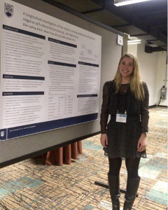 Graduate student Ellen Jopling presents her research at the Society for Affective Science Conference in Boston, MA