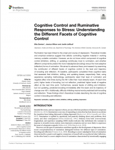 Bita Zareian published her paper in Frontiers in Psychology!